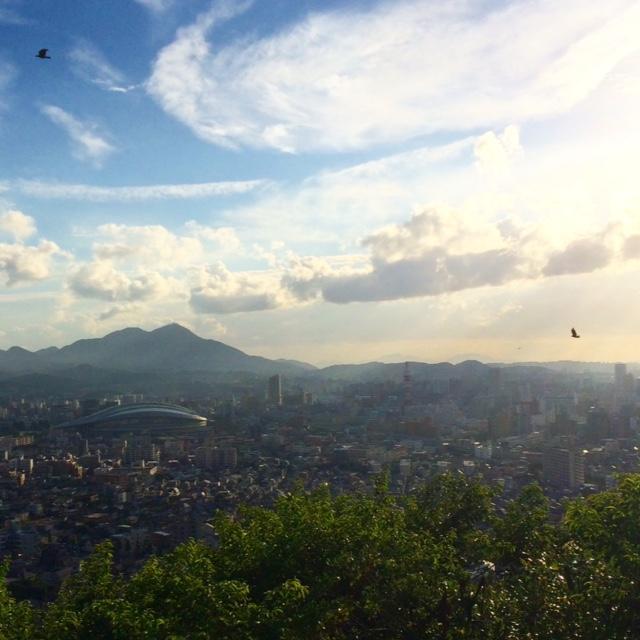 福岡県北九州市小倉北区小文字1丁目展望台からの風景
