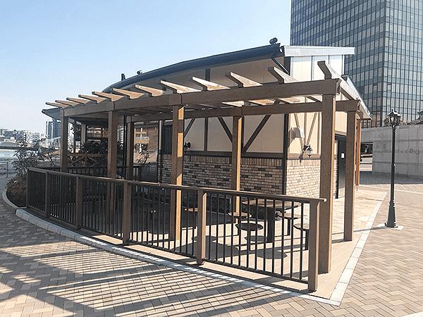 珈琲所コメダ珈琲店北九州勝山公園店の外観井筒屋側